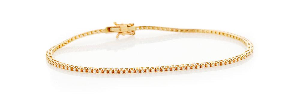 Bracciale tennis in oro rosa e diamanti bianchi