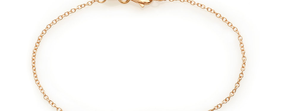 Bracciale croce in oro rosa e diamanti bianchi