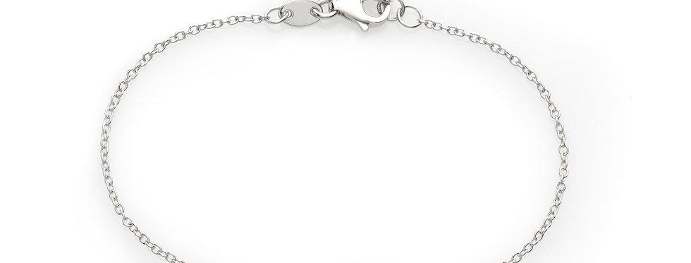 Bracciale croce in oro bianco e diamanti bianchi