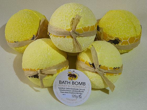 Honey & Calendula Bath Bomb.