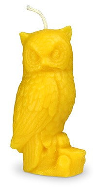 Pure beeswax Owl candle.