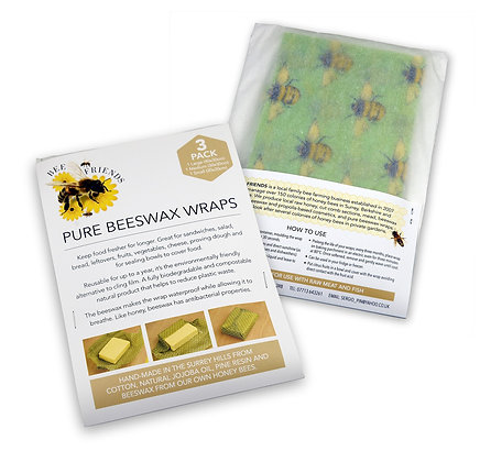 Starter pack of pure beeswax food wraps
