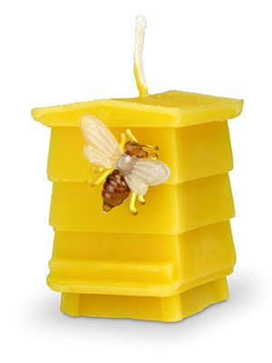 Pure beeswax Beehive candle.