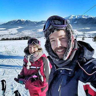 Enjoying the slopes