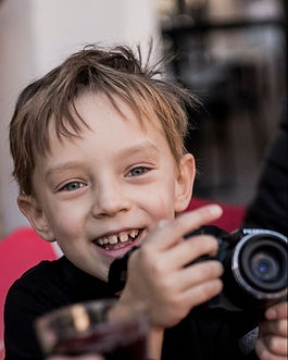 Our little photographer is always ready