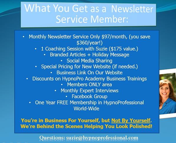 HypnoPro_Benefits_of_Newsletter_Service.