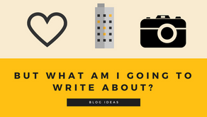 But what am I going to write about?