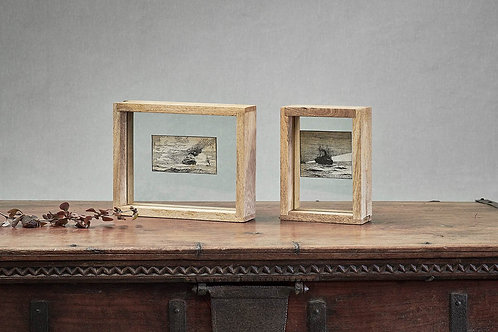 Transparent standing frame