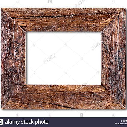 Twoje zdjęcie w ramie ze starego drewna