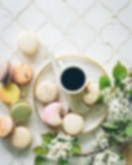 Kaffe med makroner