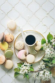 Café avec Macarons