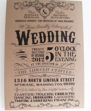 Vintage Wedding Invitation Designs – Just a hint or the big reveal?