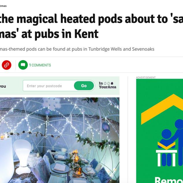 Kent online dining pods