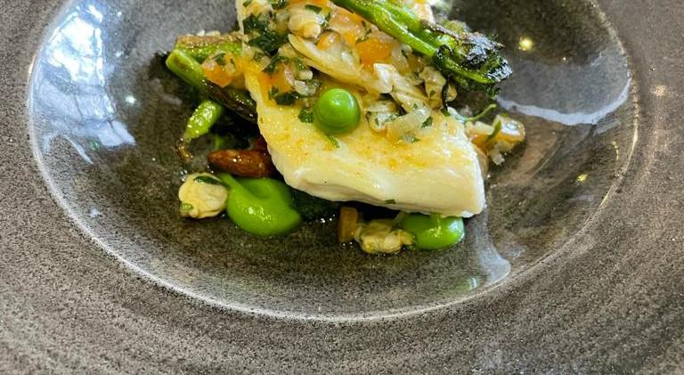 fish dish at the Abergavenny arms