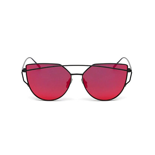 Red Tinted Black Frame Sunglasses