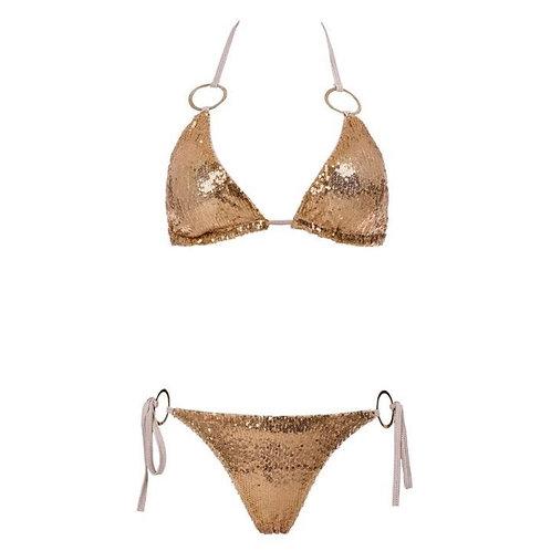 Gold Sequin Bikini