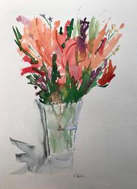 Grandma Jan's Flowers in Vase