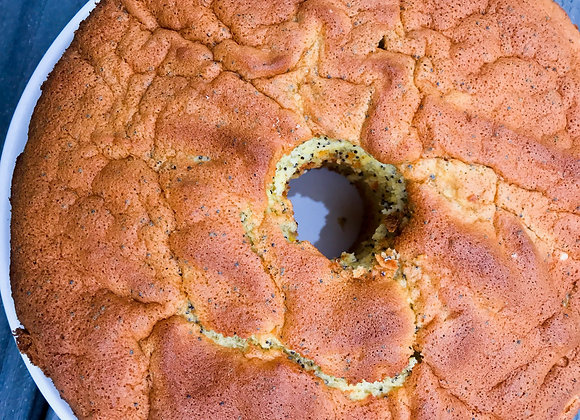 Lemon Poppy Seed Sponge Cake