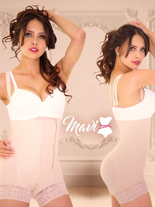 Faja Body strapless / Cachetero / Cierre lateral e Inferior / Tirante removible