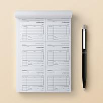 פנקס 7 | חשבונית מס קבלה 6 בדף (A4)