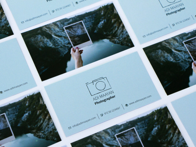 עיצוב לוגו, כרטיס ביקור