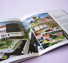 קטלוג אדריכלי בכריכת סיכות