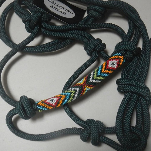 Rope Halter with Decorative Band