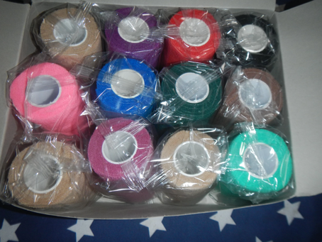 wrapped up !  cohesive elastic bandages every kit should have them  box 12 $40