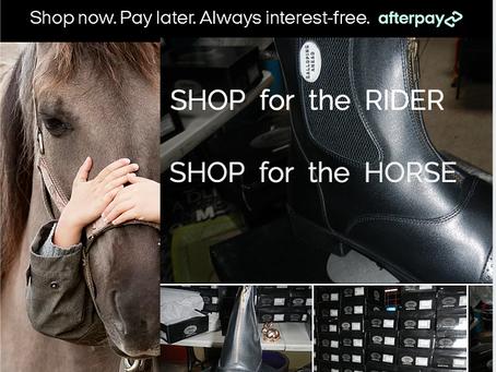Galloping Ahead Equipment & Services online store-Now offers buy now pay later option with Afterpay!