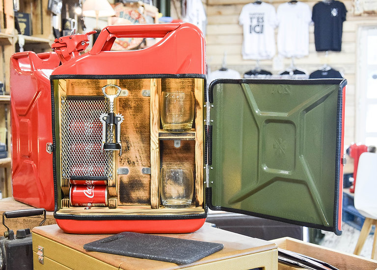 Jerrycan Mini-bar Red Roots Fumé
