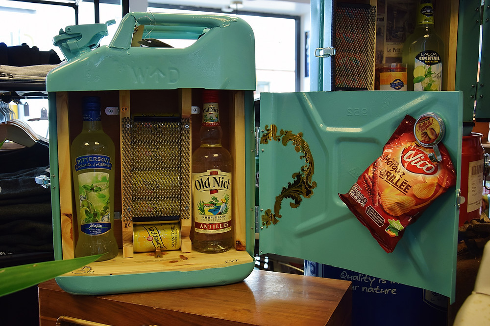 Jerrycan mini bar Rhum