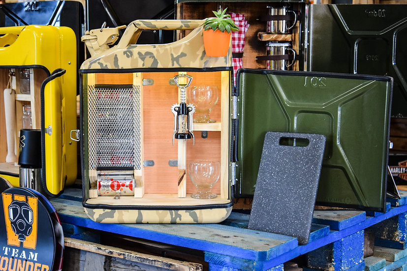 Jerrycan Mini-Bar Military Beige Roots