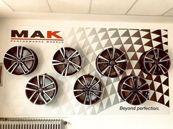 Parete allestita per #mak #wheels a San