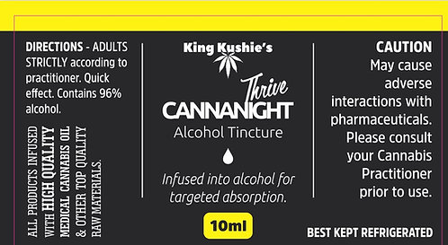 KK CANNANIGHT ALCOHOL TINCTURE 10ML