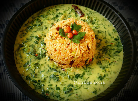 Palak Majjigehuli/ curd based curry