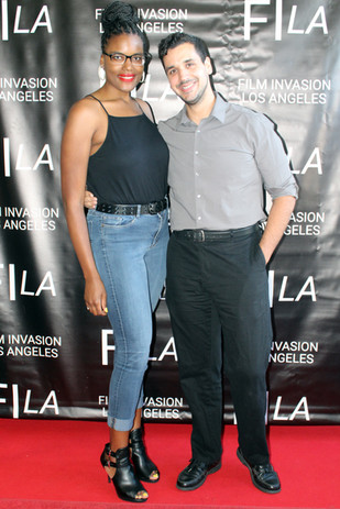 Actress Niya Wright and Director Nate Hapke at the LA Festival Premiere for Hapke's 'She & Her'