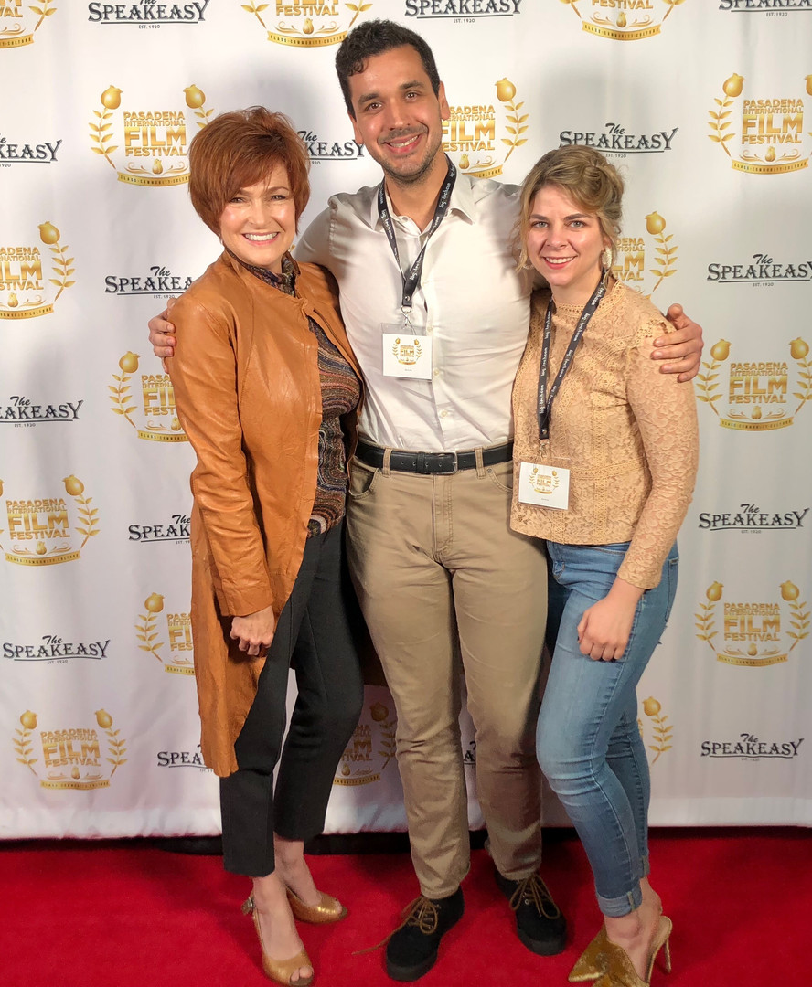 Carolyn, Nate, and Rosie at Pasadena IFF