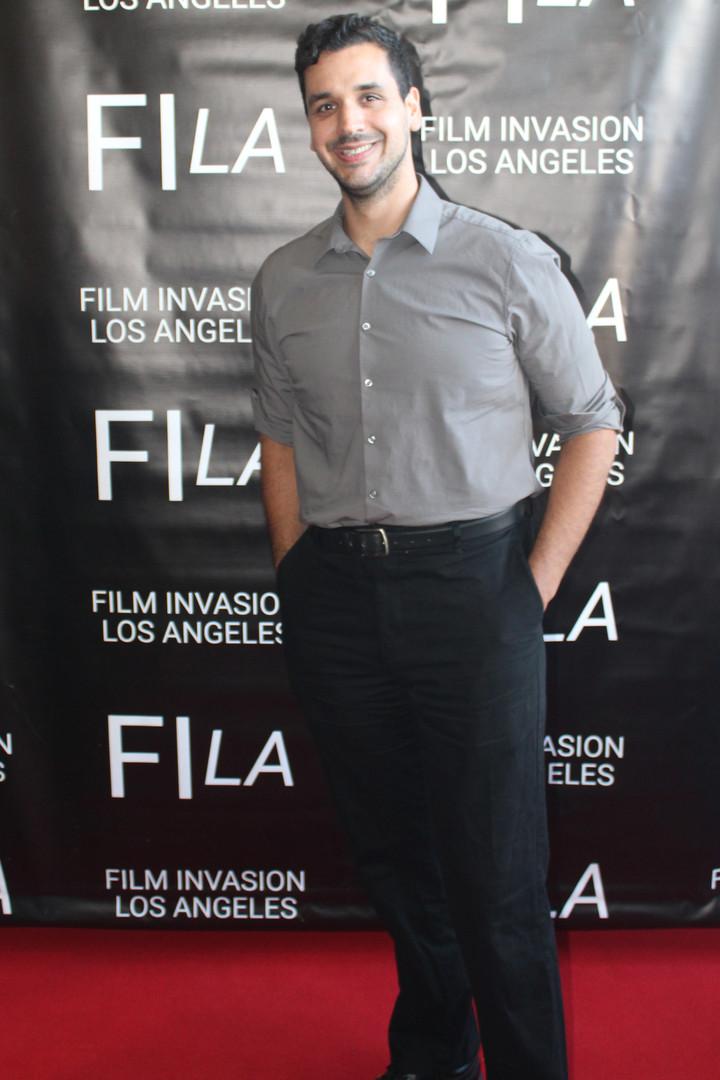 Director Nate Hapke at the LA Festival Premiere for She & Her, Film Invasion LA 2019.