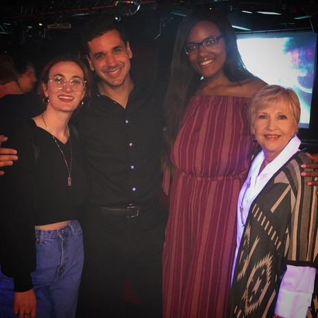 Writer/Director Nate Hapke with stars Niya Wright, Mackenzie Breeden, and Gwen Hillier at the LA premiere of the film on 10/18/18.