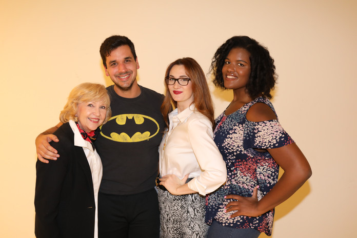 Star Gwen Hillier, Writer/Director Nate Hapke, star Mackenzie Breeden, and star Niya Wright behinds the scenes on shooting day 1.