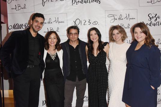 Nate Hapke, Danielle Rayne, Dominic Zamprogna, Julie Romano, Rosie Grace, and Sophia Zach on the red carpet.