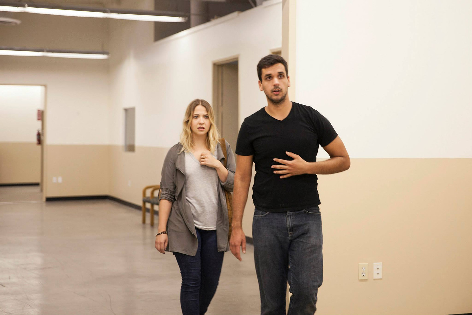 Lead actress Haley Alea Erickson and Writer/Director Nate Hapke on set.