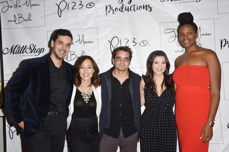 Nate Hapke, Danielle Rayne, Dominic Zamprogna, Julie Romano, and Niya Wright on the red carpet.