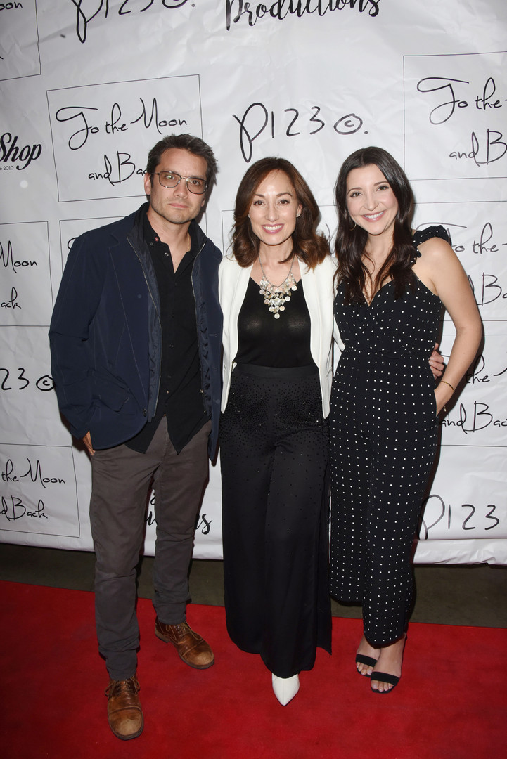 Dominic Zamprogna, Danielle Rayne, and Julie Romano on the red carpet.