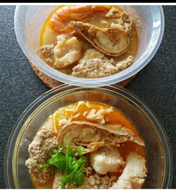 Our seafood huai shan noodle lunch