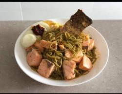 salmon moringa noodles