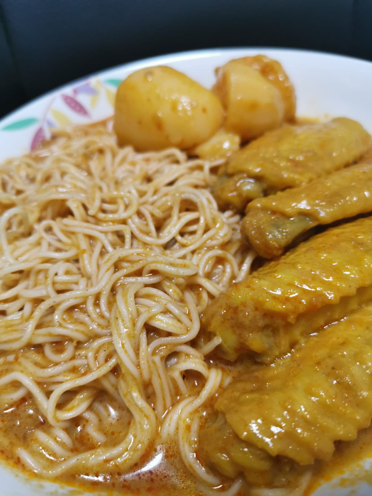 curry chicken huai shan noodles