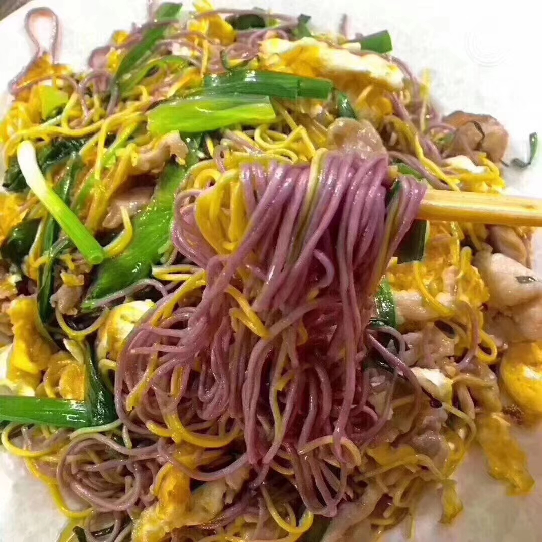 mixed and fried noodles