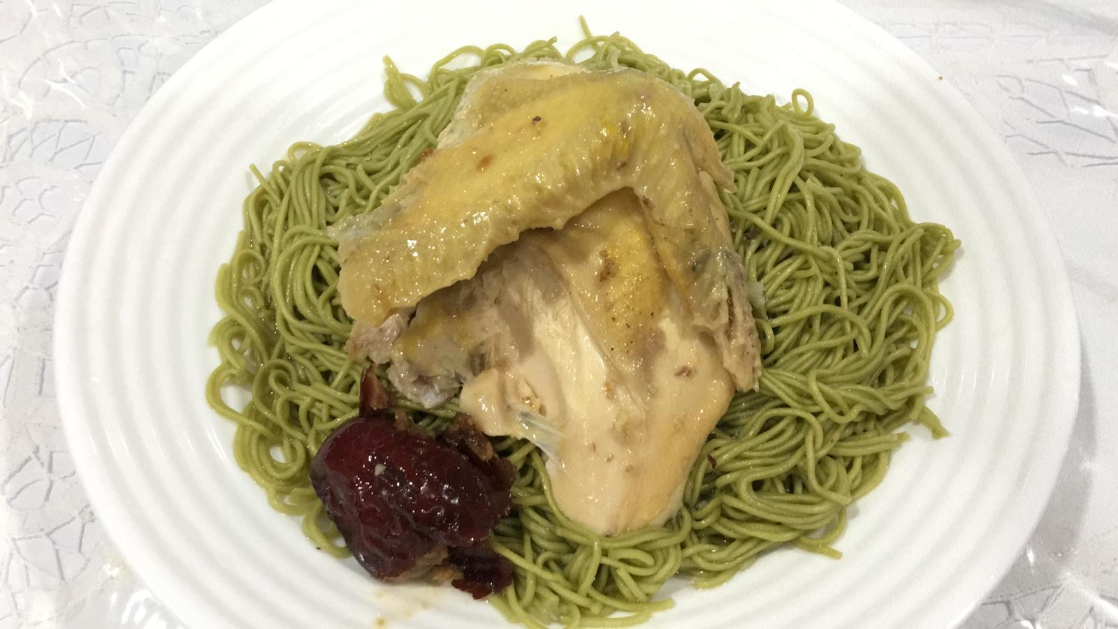 vegetable noodle w chicken