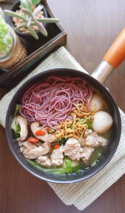 Purple sweet potato noodles
